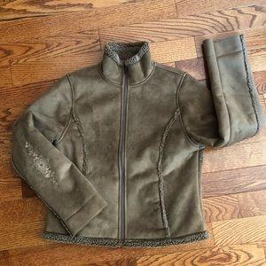L.L. Bean Faux Shearling Jacket Women's Size M Reg